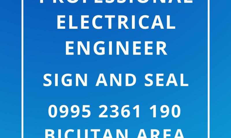 Professional Electrical Engineer (PEE) Sign And Seal